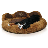 Scruffs Grizzly Bear Dog Bed Brown - Large