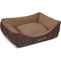 Scruffs Thermal Box Dog Bed in Brown Small Puppy Bed