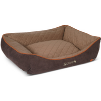 Scruffs Thermal Box Dog Bed in Brown Extra Large