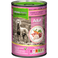 Natures Menu Lamb & Chicken with Veg Adult Dog Food Cans 400g x 36