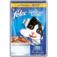 Felix As Good As It Looks Chicken In Jelly Cat Food 100g x 20
