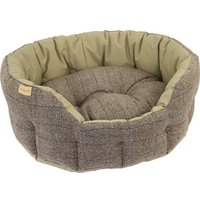 Earthbound Traditional Tweed & Waterproof Beige Dog Bed Large
