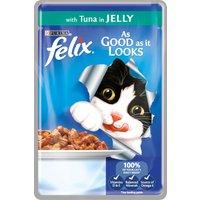 Felix As Good As It Looks Tuna In Jelly Cat Food 100g x 20