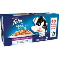 Felix As Good As It Looks Favourites in Jelly Adult Cat Food 100g x 40