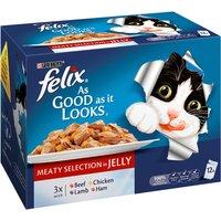 Felix As Good As It Looks Meat Menus Adult Cat Food 100g x 12