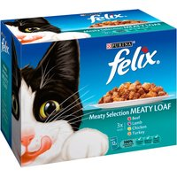 Felix Meat Selection Meaty Loaf Pouch Cat Food 100g x 12
