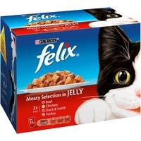 Felix Meaty Selection In Jelly Pouch Cat Food 100g x 12