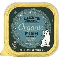 Lilys Kitchen Organic Fish Dinner Complete Wet Cat Food 85g x 19