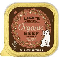 Lilys Kitchen Organic Beef Dinner Complete Wet Cat Food 85g x 57