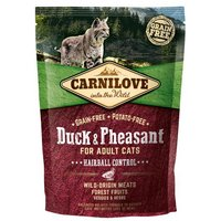 Carnilove Hairball Control Duck & Pheasant Adult Cat Food 400g