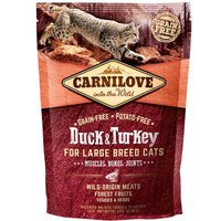 Carnilove Large Breed Duck & Turkey Adult Cat Food for Muscles, Bones & Joints 400g