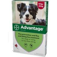 Advantage Flea Control 250 Large Dogs 10 - 25kg (4 pipettes) NFA-D