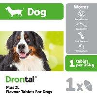Drontal Plus XL Flavour Dog Worming Tablets 1 tablet NFA-D