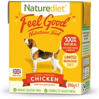 Naturediet Feel Good Chicken Wet Adult Dog Food Carton 390g x 18 Feel Good