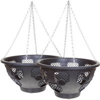 Pair of 15 Large Easy Fill Hanging Baskets