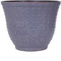 Premium Hobnail Round Planter 43cm (17in) Silver