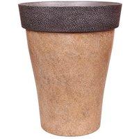 Diablo Round Planter 43.5cm (17in) Brown