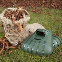 Pair of Hand Held Leaf Grabbers with 3 Compostable Leaf Sack