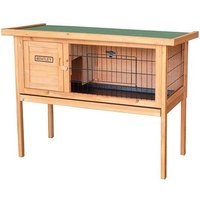'Charles Bentley Wooden Raised Rabbit Guinea Pig Hutch With Run & Cleaning Tray