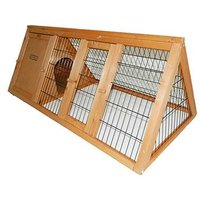 'Charles Bentley Frame Wooden Outdoor Portable Rabbit Hutch Guinea Pig Ferret Run