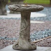 Ivy Sundial Birdbath