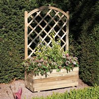 Rectangular Planter and Lattice