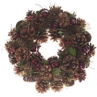 Cherry & Cone Everlasting Wreath 30cm