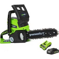 Greenworks G24CSK2 24V Cordless Chainsaw with battery