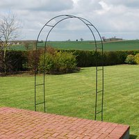 Rose Arch 2.4M tall - flat packed, powder coated steel
