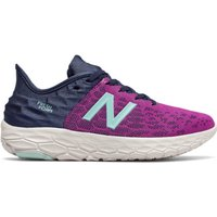 Image of Womens New Balance Fresh Foam Beacon v2 - Plum/Natural Indigo/Bali Blue, Plum/Natural Indigo/Bali Blue