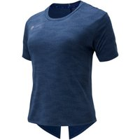 Image of Womens New Balance London Edition Q Speed Jacquard Short Sleeve - Natural Indigo Heather, Natural Indigo Heather