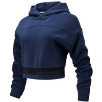 Image of Womens New Balance NB Athletics Select Boxy Hoodie - Natural Indigo, Natural Indigo