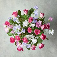 Roses & British Sweet Peas Bouquet Pink