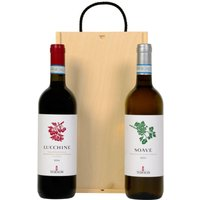 Old World Wine Duo in a Wooden Box