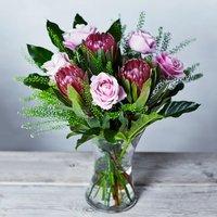 Rose & Protea Bouquet Pink