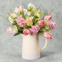 Spring Rose Garden Jug Yellow