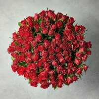 100 Red Sweetheart Roses Bouquet Red