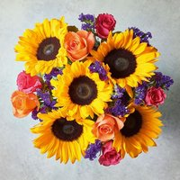 Foundation Sunshine Flowers Bouquet Yellow or orange