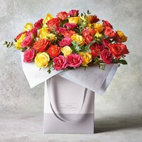 Large Sweetheart Roses Gift Bag Yellow or orange