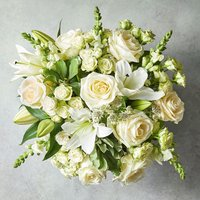 Large Scented White Lily & Rose Bouquet White