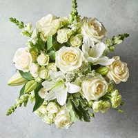 Medium Scented White Lily & Rose Bouquet White