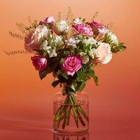 Blushing Rose Bouquet Pastel