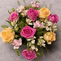 Rose & Freesia Posy Pastel