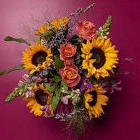 Summer Sunshine Flowers Bouquet Yellow or orange