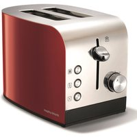 Buy 2-Slice 2-Slot Toaster Hi-Lift Stainless Steel & Red - Electrical Discount UK
