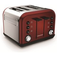 Buy 4-Slice 4-Slot Toaster Red - Electrical Discount UK