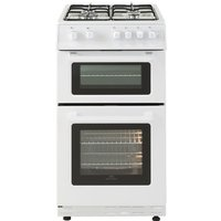 500mm Twin Cavity Gas Cooker 4 x Burner Gas Hob White