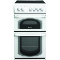 500mm Electric Double Cooker Ceramic Hob Polar White