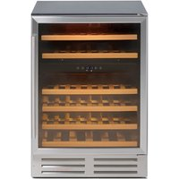 46 Bottle Capacity Wine Cooler Stainless Steel