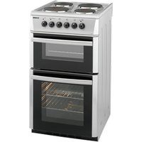 500mm Twin Cavity Electric Cooker Sealed Hob Silver
